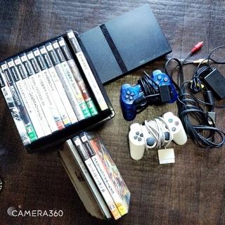 プレイステーション2(PlayStation2)のプレステ2本体+ソフトまとめ売り(家庭用ゲーム機本体)