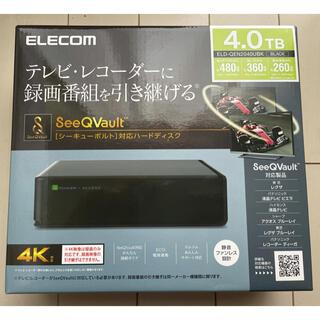 エレコム(ELECOM)の【エミママ様専用】ELECOM 外付けHDD 4TB SeeQVault対応(DVDレコーダー)