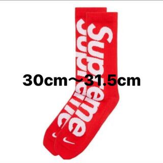 Supreme - Supreme Nike Socks 靴下 red 30-31.5cm