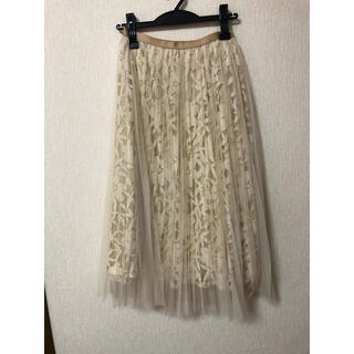 STRAWBERRY-FIELDS - ストロベリーフィールズ  プリーツスカート チュールスカート