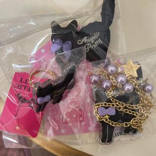 Angelic Pretty - angelic pretty 黒猫 ネックレス リング クリップ