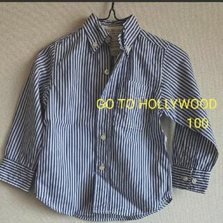 ゴートゥーハリウッド(GO TO HOLLYWOOD)の《GO TO HOLLYWOOD》ストライプ シャツ/100cm(Tシャツ/カットソー)