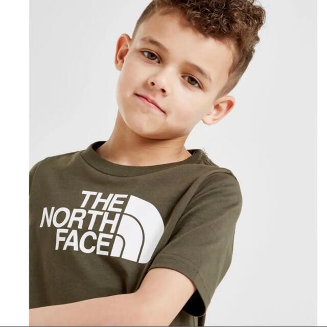 THE NORTH FACE(ザノースフェイス)の【海外限定】TNF ノースフェイス キッズ ロゴTシャツ カーキ 100cm キッズ/ベビー/マタニティのキッズ服男の子用(90cm~)(Tシャツ/カットソー)の商品写真