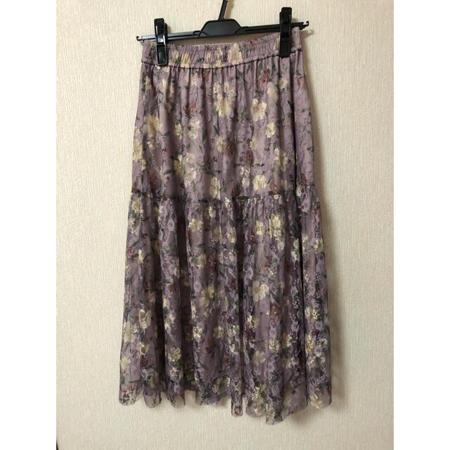 JILL by JILLSTUART(ジルバイジルスチュアート)のジルバイジルスチュアート チュールティアードスカート レディースのスカート(ロングスカート)の商品写真