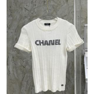 CHANEL - 新作▼CHANEL  ホワイト セーター トップス M