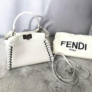 FENDI - FENDI オフホワイ レースアップ 希少 ピーカブー