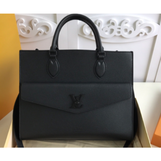 LOUIS VUITTON - ルイヴィトン ロックミー.トート MM 黒