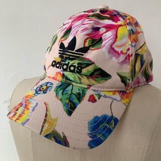 アディダス(adidas)のアディダス FARM 花柄ピンク キャップ 帽子(キャップ)