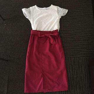ロペピクニック(Rope' Picnic)のロペピクニック カットソー&スカート(ひざ丈スカート)