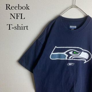 リーボック(Reebok)のUS 古着 NFL リーボック シアトル シーホークス 半袖 Tシャツ L(Tシャツ/カットソー(半袖/袖なし))