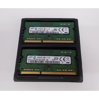 サムスン(SAMSUNG)のZ低電圧 ノート用メモリ 4GB×2枚 8GB PC3L-12800S (ノートPC)