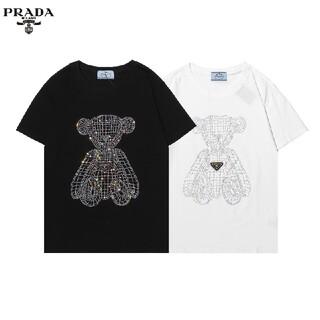 PRADA - 0304PRADA プラダ Tシャツメンズレディース兼用8000円2枚半袖