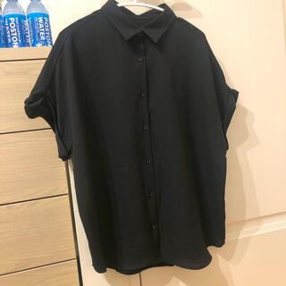 黒 シャツ 半袖 サラサラ(シャツ/ブラウス(半袖/袖なし))