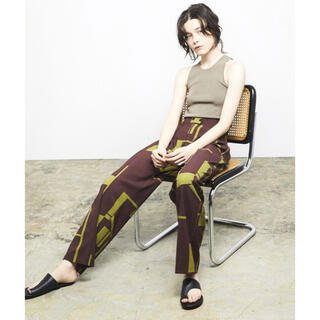 TODAYFUL - todayful Geometric Tuck Trousers