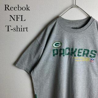 リーボック(Reebok)のUS 古着 リーボック NFL パッカーズ 半袖 Tシャツ 人気 夏 L(Tシャツ/カットソー(半袖/袖なし))
