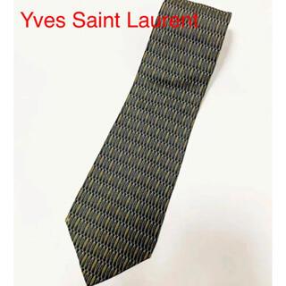 【美品】Yves Saint Laurent 総柄ネクタイ 幾何学模様