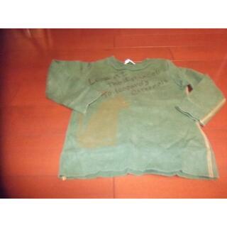 ハッカキッズ(hakka kids)のhakka kids 男児 トレーナー サイズ100 猫 ねこ(Tシャツ/カットソー)