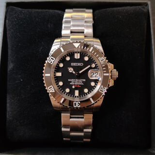 セイコー(SEIKO)の週末値下 300M防水「MM300 サブマリーナカスタム•ブラック」自動巻腕時計(腕時計(アナログ))