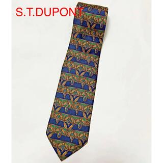 エステーデュポン(S.T. Dupont)の【美品】S.T.DUPONT エステーデュポン 総柄ネクタイ(ネクタイ)