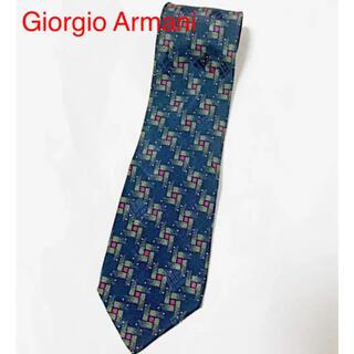 ジョルジオアルマーニ(Giorgio Armani)の【高級】Giorgio Armani 総柄ネクタイ ドット 幾何学模様(ネクタイ)