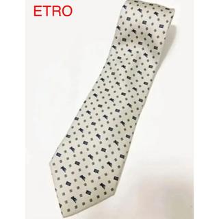 エトロ(ETRO)の【人気】ETRO エトロ 総柄ネクタイ ペガサス柄 ブランドロゴ(ネクタイ)