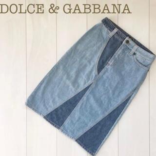 ドルチェアンドガッバーナ(DOLCE&GABBANA)のドルガバ デニム スカート お洒落(ミニスカート)