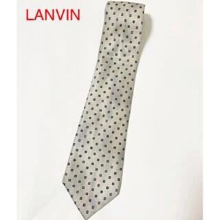 ランバン(LANVIN)の【美品】LANVIN ランバン 総柄ネクタイ ブランドロゴ ナイト(ネクタイ)