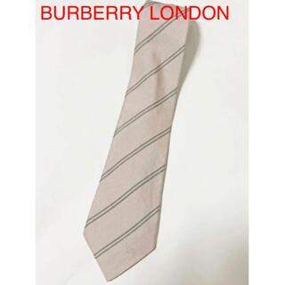 バーバリー(BURBERRY)の【人気】BURBERRY LONDON 総柄ネクタイ ストライプ 馬ロゴ(ネクタイ)
