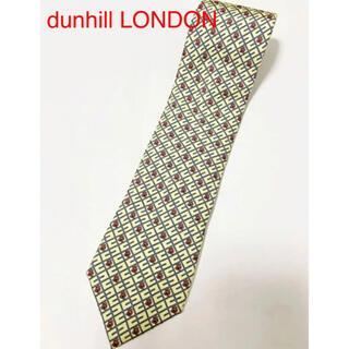 ダンヒル(Dunhill)の【高級】dunhill LONDON ダンヒル 総柄ネクタイ イエロー(ネクタイ)