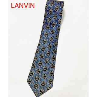 ランバン(LANVIN)の【高級】LANVIN ランバン 総柄ネクタイ 幾何学模様 ハート(ネクタイ)