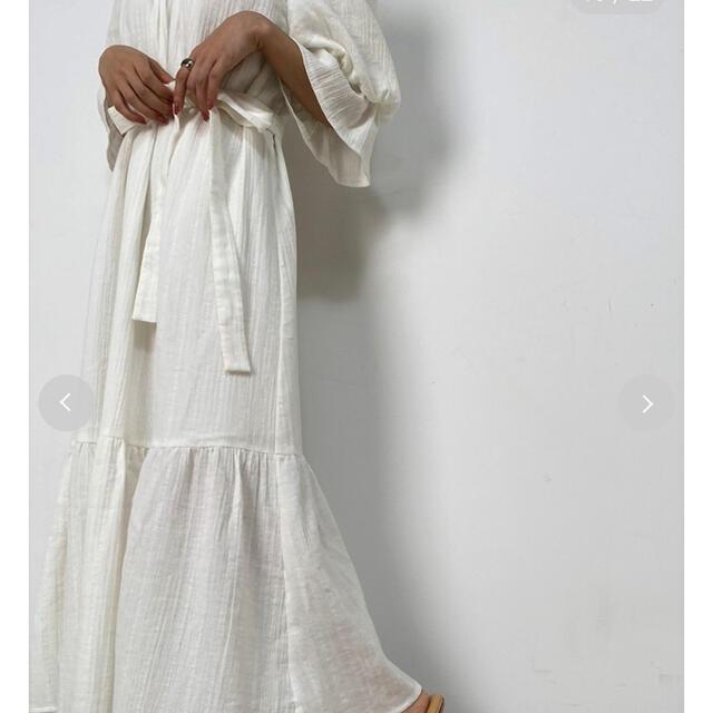 snidel(スナイデル)のスナイデルホーム オーガニックコットンWガーゼワンピース レディースのワンピース(ロングワンピース/マキシワンピース)の商品写真