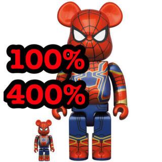 メディコムトイ(MEDICOM TOY)のBE@RBRICK IRON SPIDER 100% 400% 新品未使用(その他)