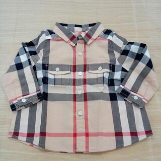 バーバリー(BURBERRY)のバーバリー チェックシャツ 6M 68cm 02MN0510746(シャツ/カットソー)