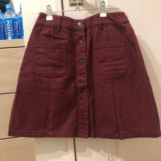 赤 タイトスカート Aラインスカート(ミニスカート)