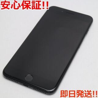 アイフォーン(iPhone)の美品 DoCoMo iPhone7 PLUS 128GB ジェットブラック (スマートフォン本体)