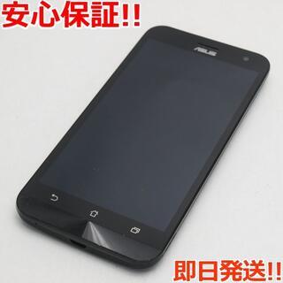 ゼンフォン(ZenFone)の美品 SIMフリー ZenFone2 Laser ZE500KL ブラック (スマートフォン本体)
