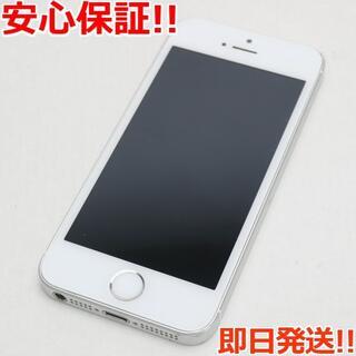 アイフォーン(iPhone)の美品 SIMフリー iPhoneSE 64GB シルバー (スマートフォン本体)