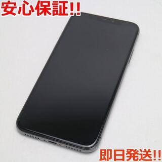 アイフォーン(iPhone)の超美品 SIMフリー iPhoneX 64GB スペースグレイ (スマートフォン本体)