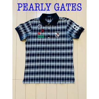 パーリーゲイツ(PEARLY GATES)のパーリーゲイツ メンズ ポロシャツ シャツ トップス 半袖 ネイビー 4 M(ポロシャツ)