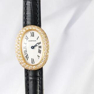 Cartier - 【仕上済】カルティエ ミニ ベニュワール K18 ダイヤ レディース 腕時計