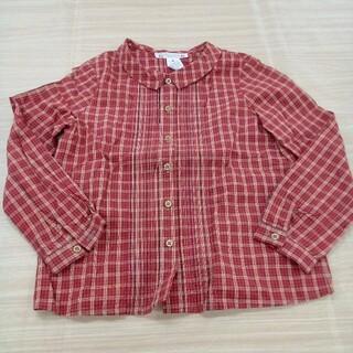 ボンポワン(Bonpoint)のボンポワン チェック 長袖 シャツ 6サイズ 02MN0510747(ブラウス)