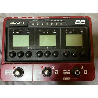 ズーム(Zoom)のZOOM ベース用エフェクト・アンプシミュレーター B3(ベースエフェクター)