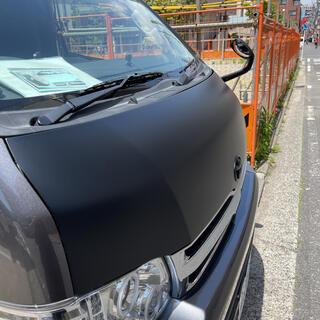 トヨタ - ハイエース3型後期ワイドボンネットとグリル