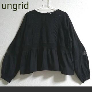Ungrid - 美品 ungrid ノーカラーコットンブラウス