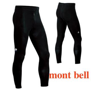 モンベル(mont bell)の[新品] モンベル サポーテックタイツ Men's ブラック Lサイズ ショート(レギンス/スパッツ)