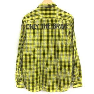 ディーゼル(DIESEL)のディーゼル DIESEL L シャツ チェック 長袖 黄 黒(シャツ)