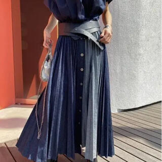 Ameri VINTAGE - AMERI DENIM PLEATS SKIRT