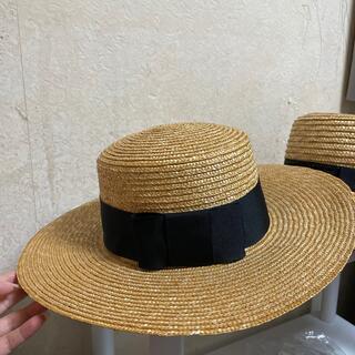 エイミーイストワール(eimy istoire)のエイミー カンカン帽 (麦わら帽子/ストローハット)