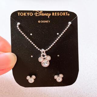 ディズニー(Disney)のディズニー ネックレス&ピアスセット(ネックレス)