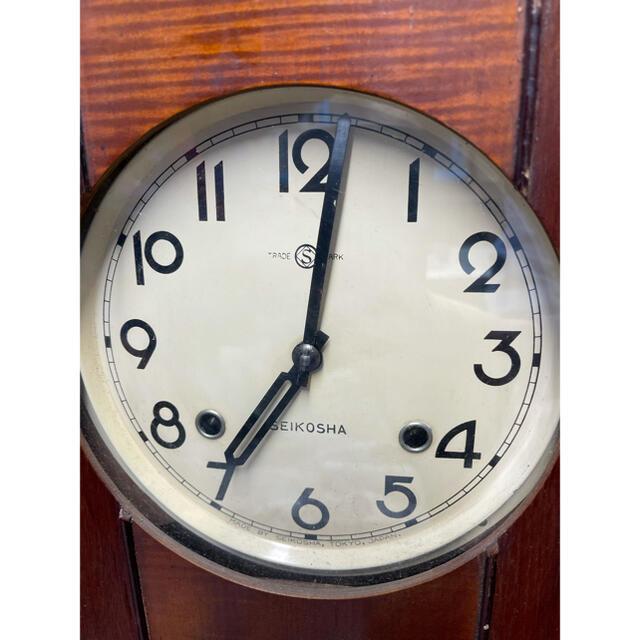 SEIKO(セイコー)のアンティーク SEIKO 振り子時計 ゼンマイ式 レトロ インテリア/住まい/日用品のインテリア小物(掛時計/柱時計)の商品写真